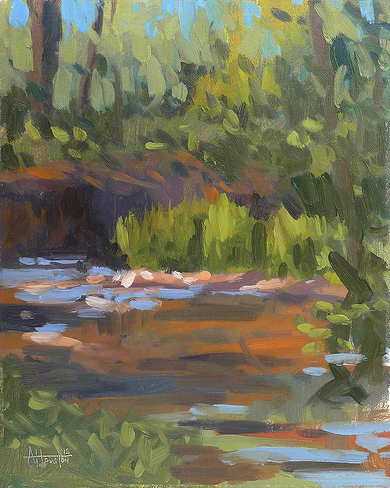 """Beside Caney Creek"" original fine art by Adam Houston"