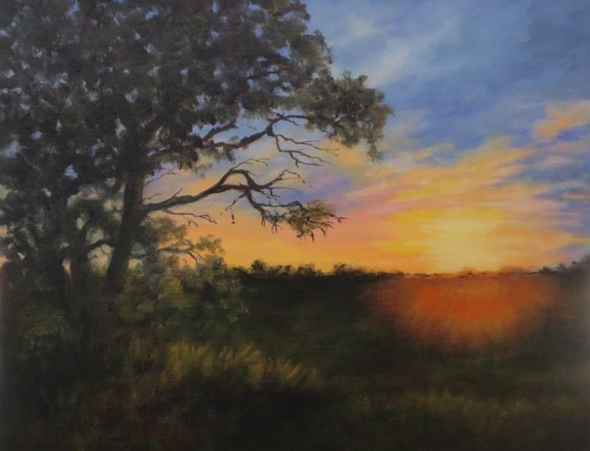 """Goodnight Sun Take 2"" original fine art by Elizabeth Elgin"