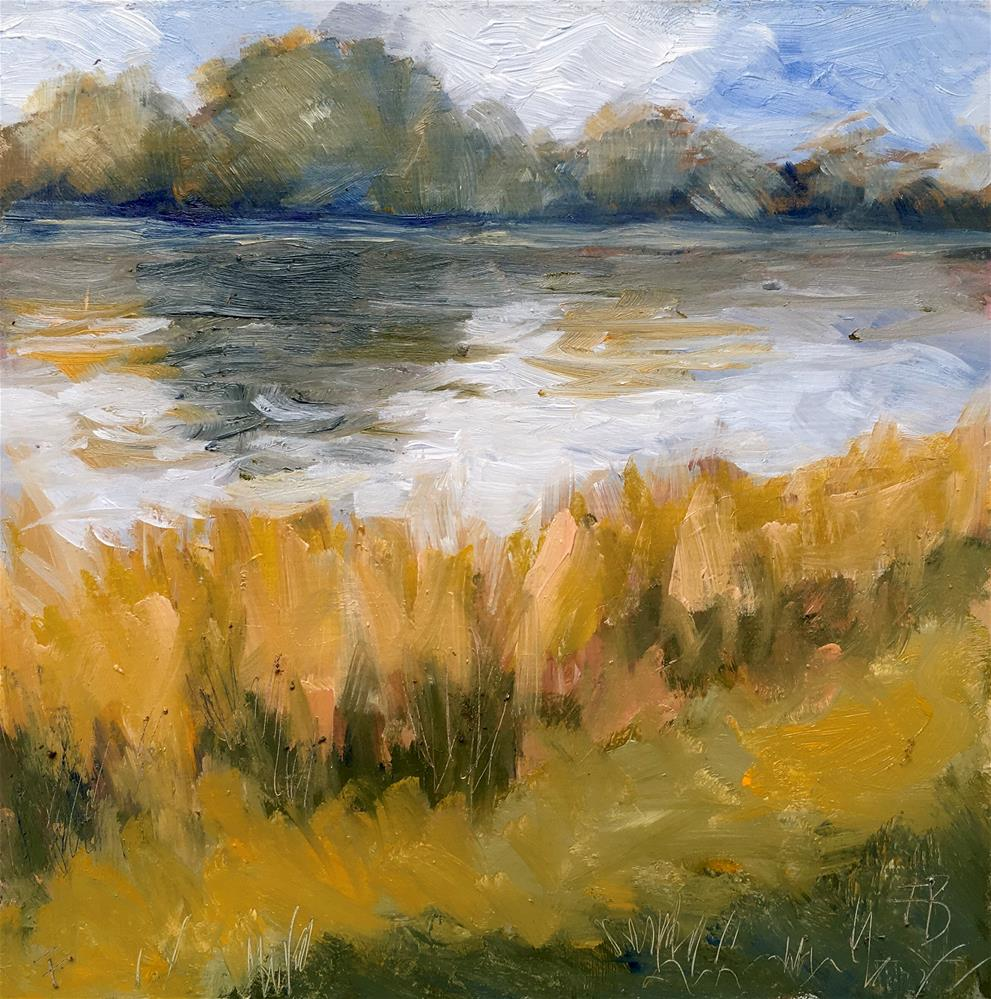 """083 Fox River Wisconsin Painting"" original fine art by Fred Bell"