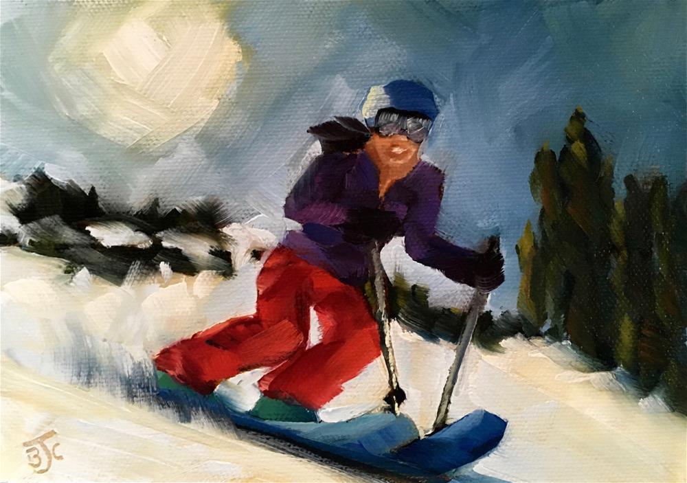 """""""Fun in the Sun"""" original fine art by Bobbie Cook"""