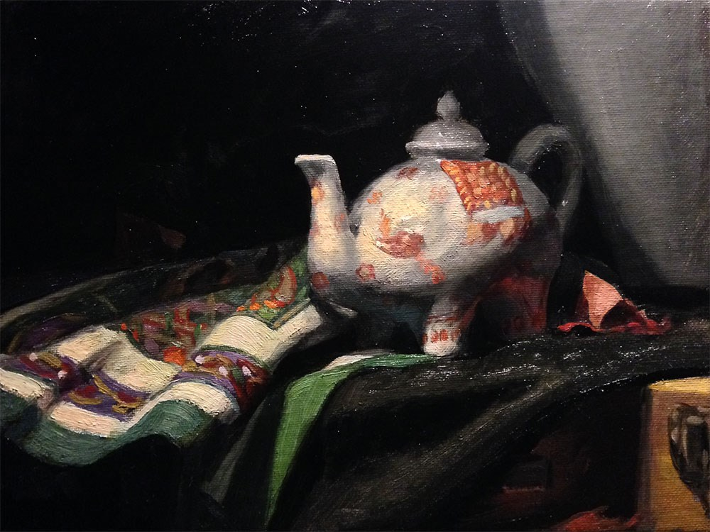 """A Time For Tea"" original fine art by Chris Beaven"