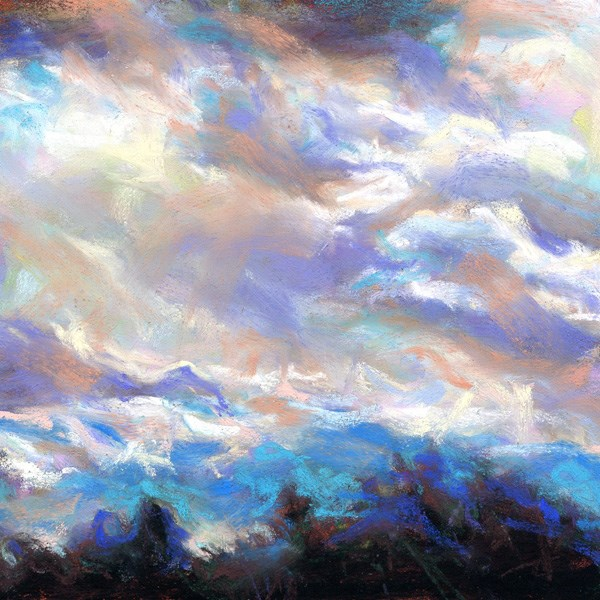 """PATCH OF SILVER LINING - sky pastel by Susan Roden - SOLD!"" original fine art by Susan Roden"