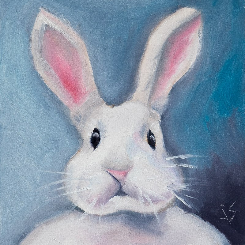 """Honey Bunny"" original fine art by Johnna Schelling"