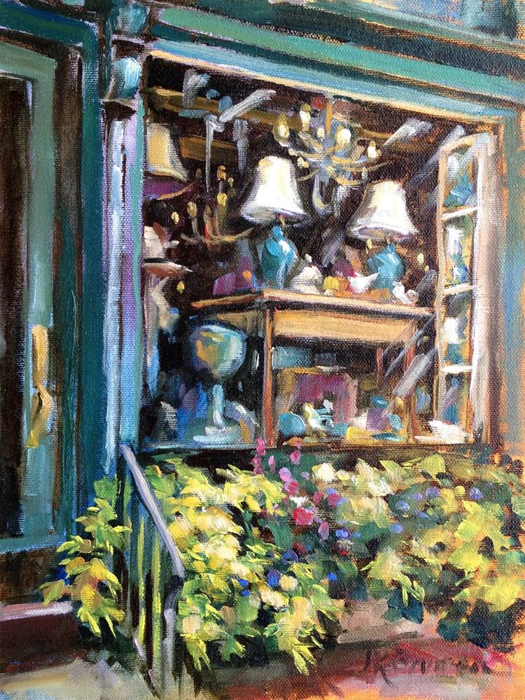 """""""Cerulean"""" original fine art by Jeanne Bruneau"""