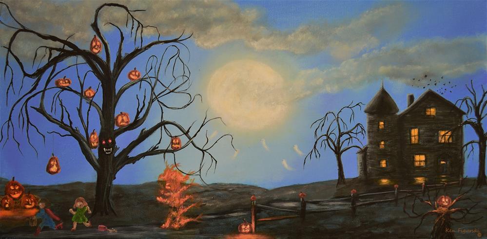 """Halloween Night Two"" original fine art by Ken Figurski"