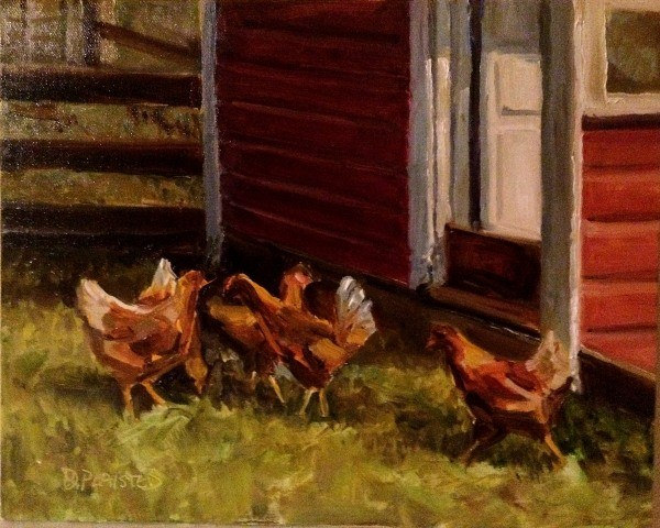 """""""Late to the Party"""" original fine art by Diane Plaisted"""