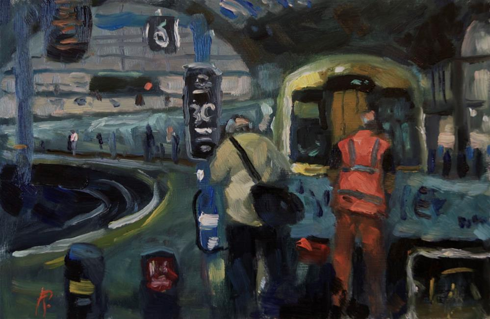 """Brighton Station"" original fine art by Andre Pallat"