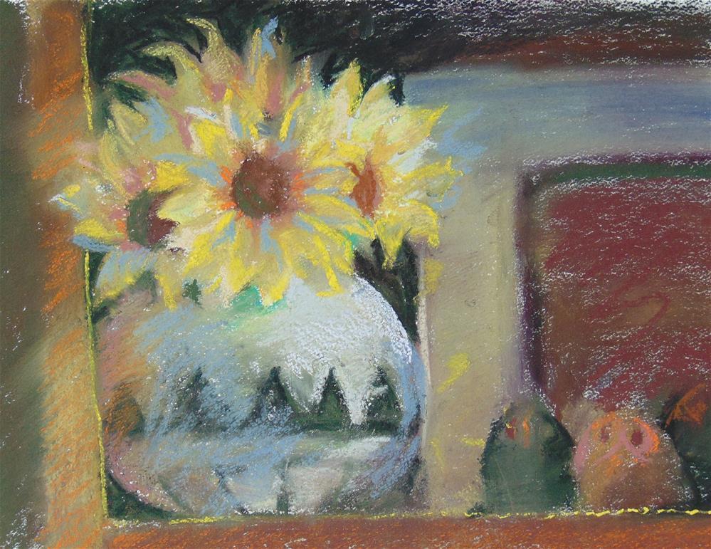 """Fake flowers"" original fine art by Catherine Kauffman"