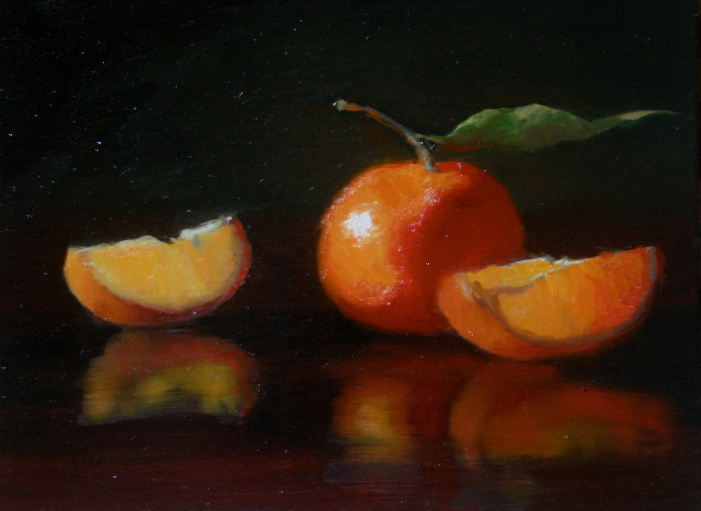 """Citrus reflected"" original fine art by Liz Balkwill"