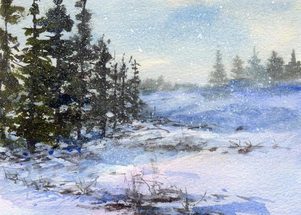 """Snow Showers"" original fine art by Linda Henry"