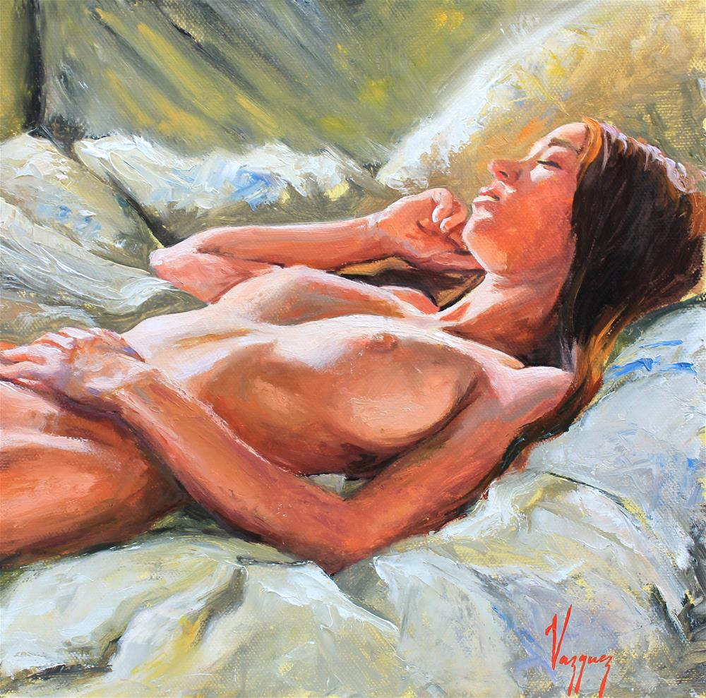 """First rays of light"" original fine art by Marco Vazquez"