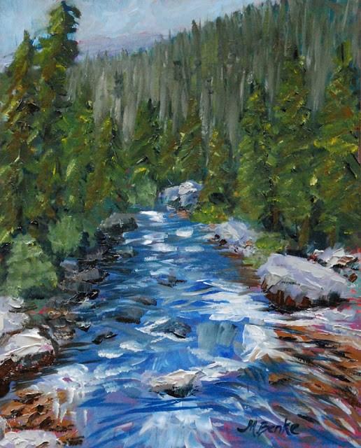 """Upstream or Downstream?"" original fine art by Mary Benke"