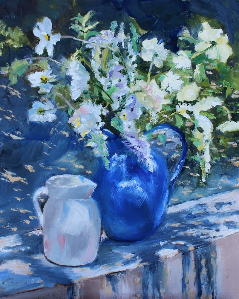 """Blue Jug"" original fine art by Tamsen Armstrong"