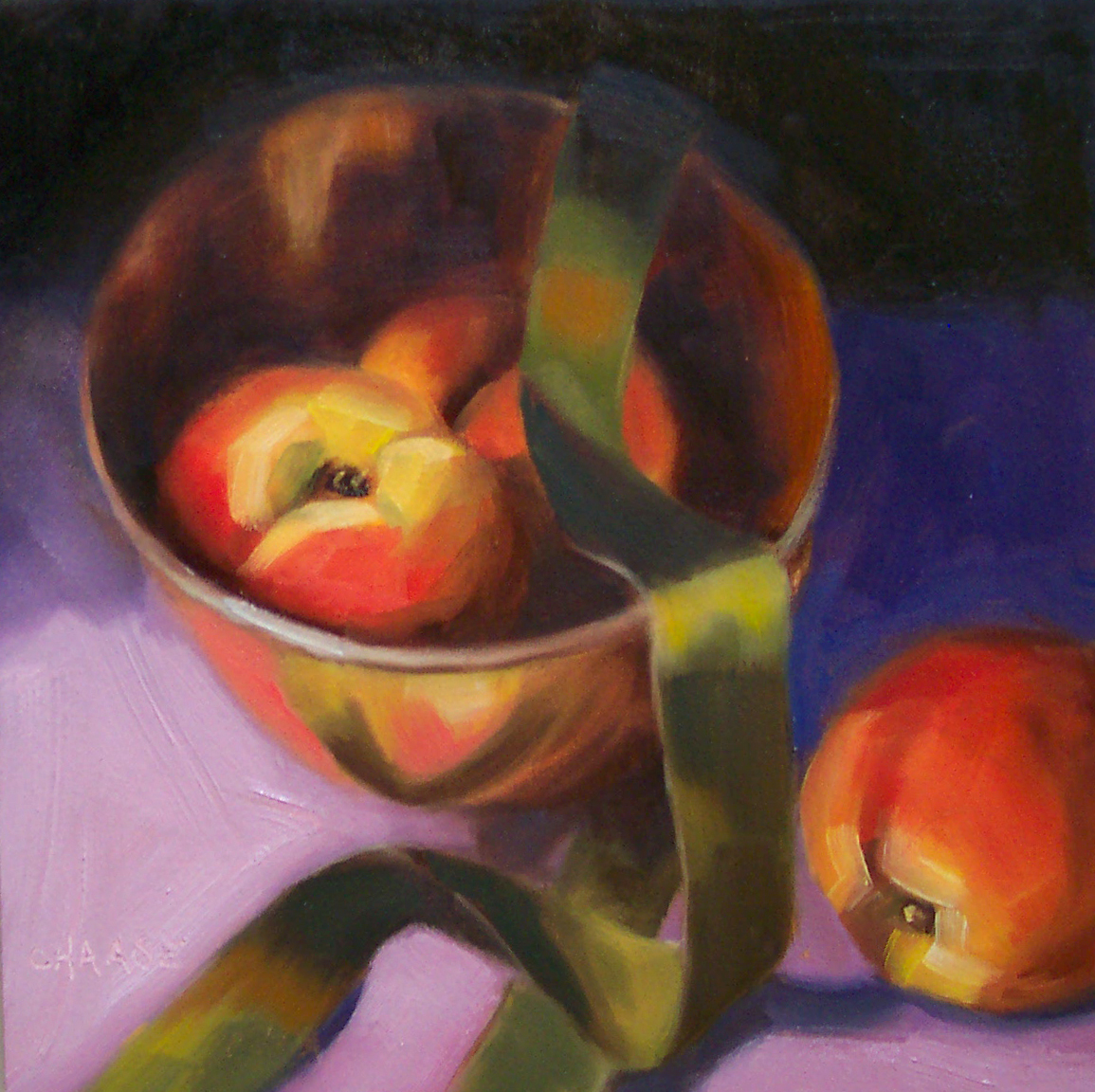 """Peaches and Copper"" original fine art by Cindy Haase"