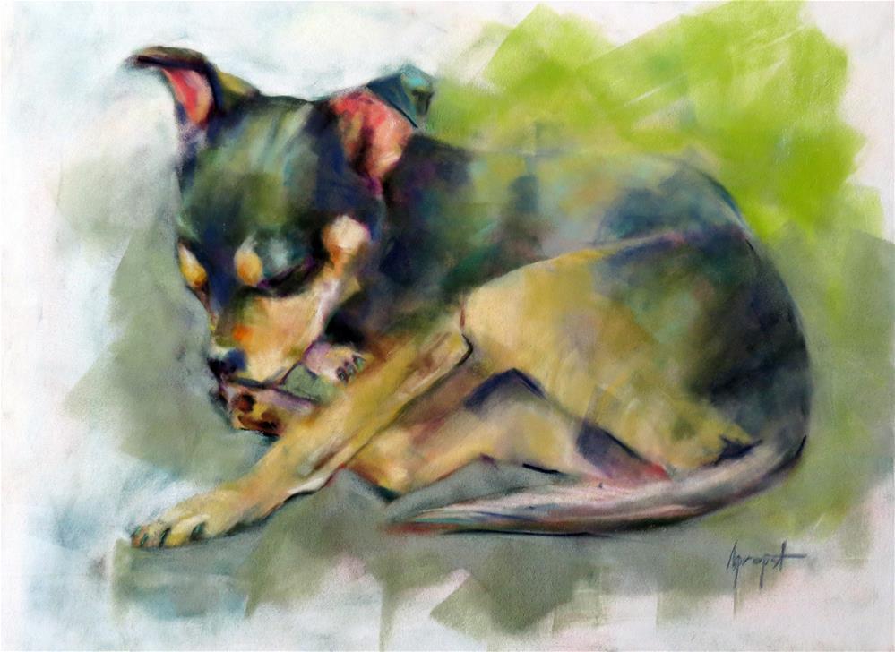 """""""Carlos"""" original fine art by Anne Marie Propst"""