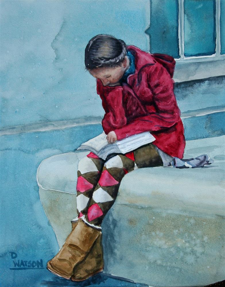 """School Girl"" original fine art by Deb Watson"