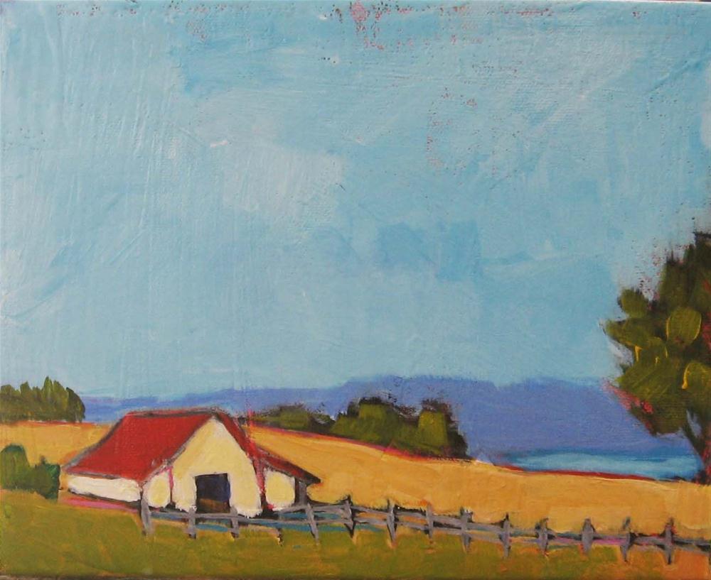"""Marie's Farm"" original fine art by Kristina Davidson"