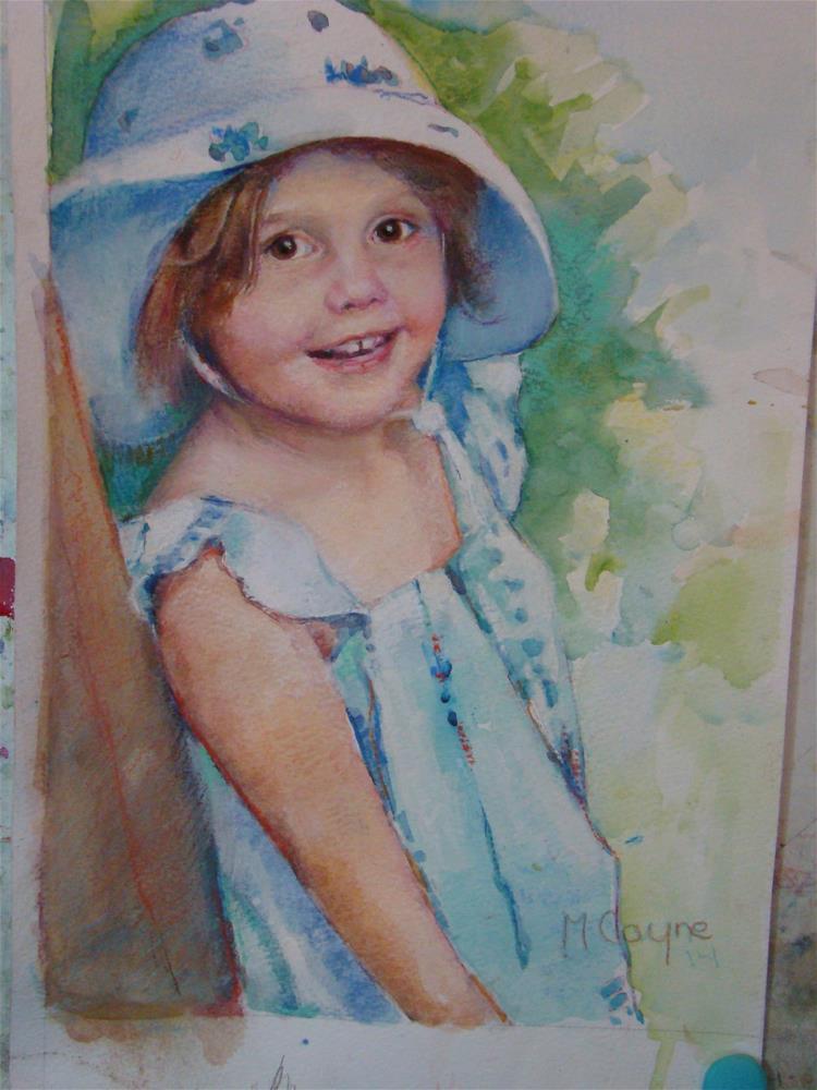 """Jilly"" original fine art by meribeth coyne"