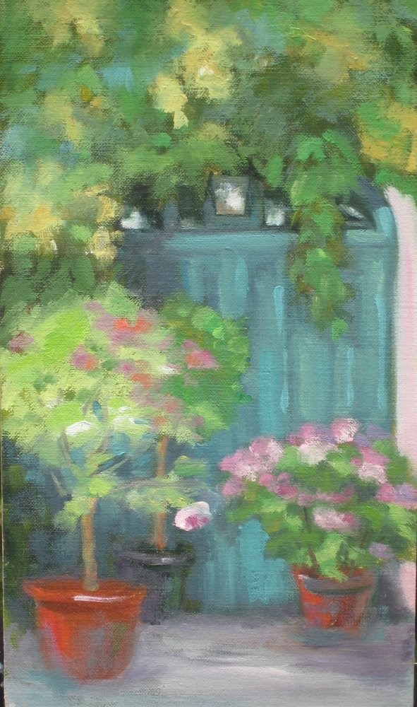 """Door in Giverny"" original fine art by Judy Elias"