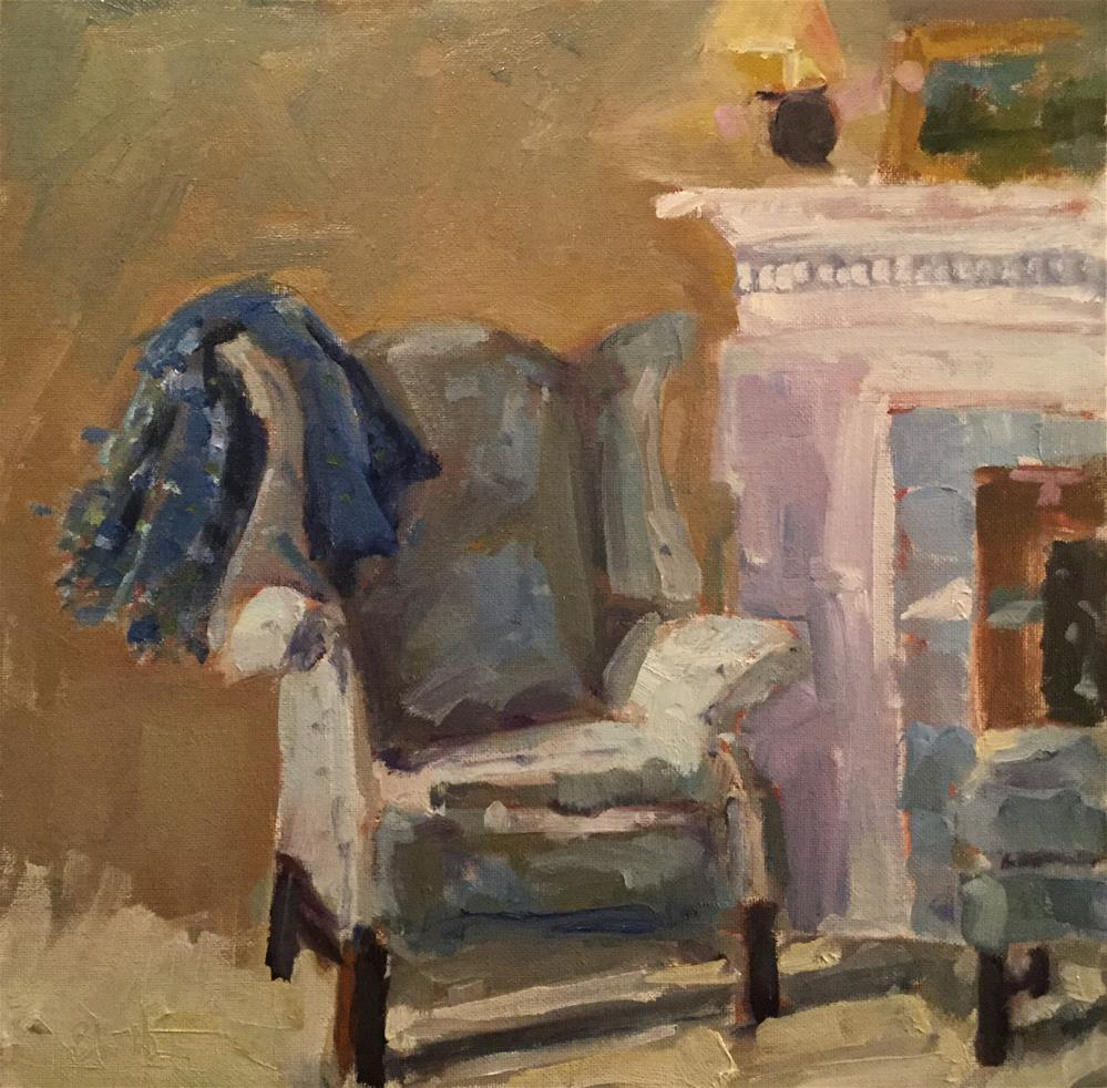 """Cozy Up"" original fine art by Barb Walker"