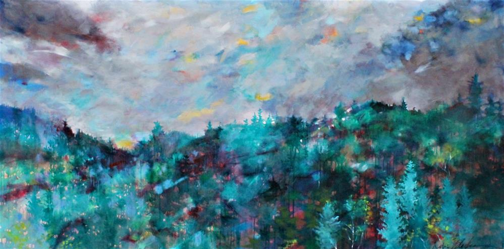 """Clouds Over the Cascades "" original fine art by Kerri Blackman"