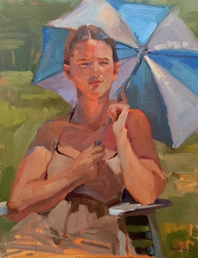 """Watching the Sun"" original fine art by Sarah Sedwick"