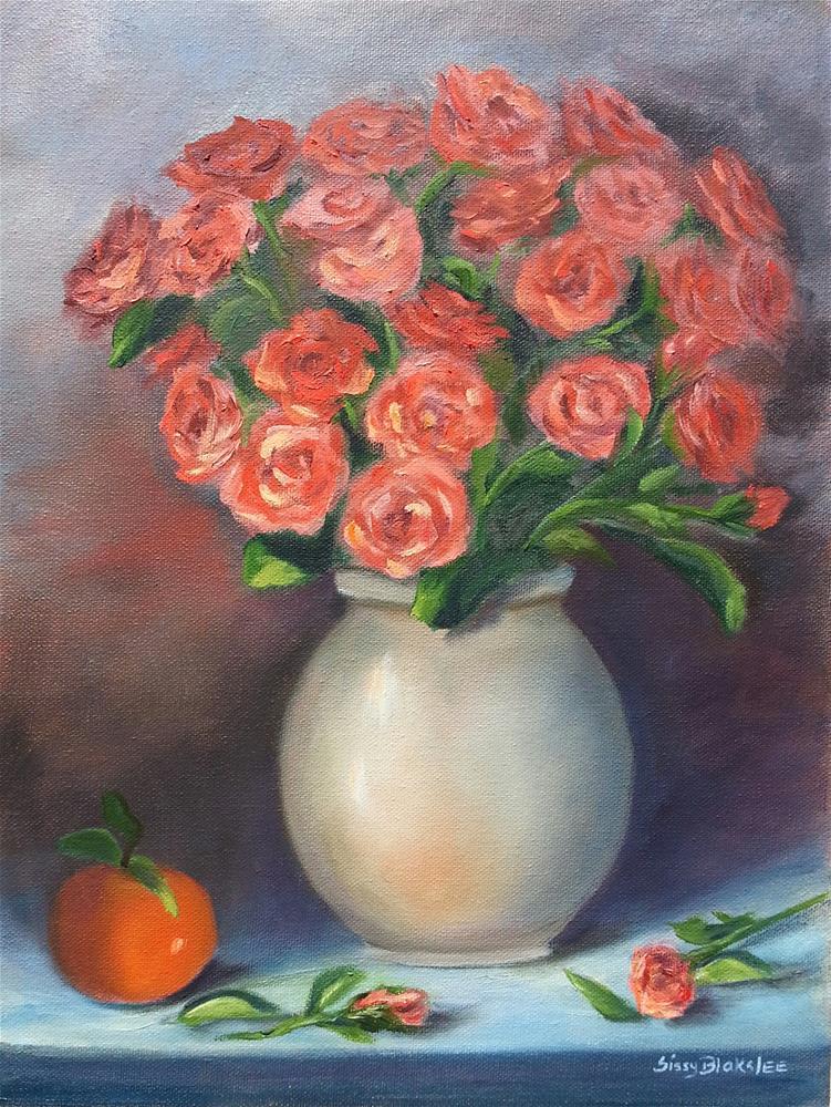 """""""Orange Bouquet"""" original fine art by Sissy Blakslee"""