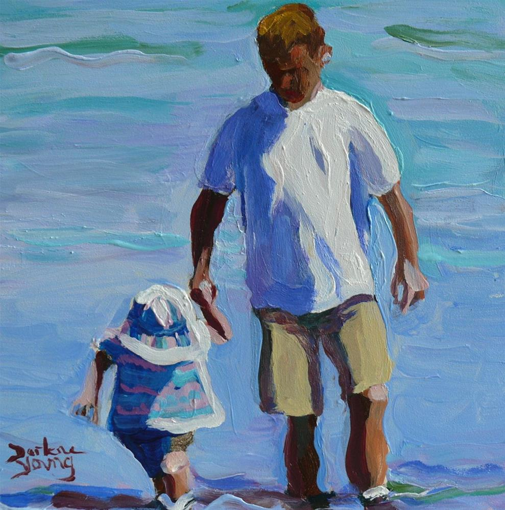 """852 Supporting Hand, Oil on board, 6x6"" original fine art by Darlene Young"