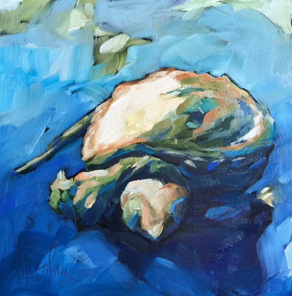 """Tiny Turtle"" original fine art by Hallie Kohn"