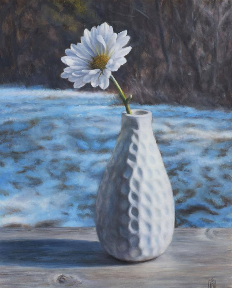 """White on White"" original fine art by Melissa  Imossi"