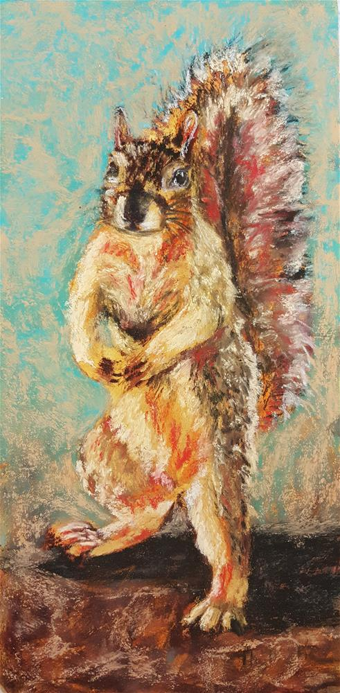 """Happy Squirrel Fellow"" original fine art by Phyllisha Hamrick"