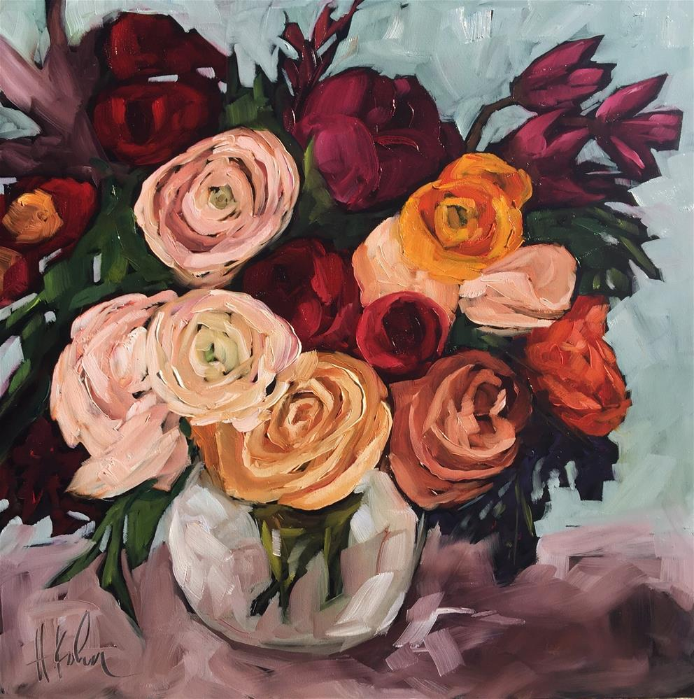 """Fresh Flowers"" original fine art by Hallie Kohn"