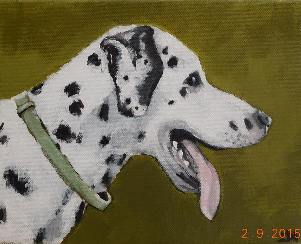 """Dalmation"" original fine art by Daryl West"