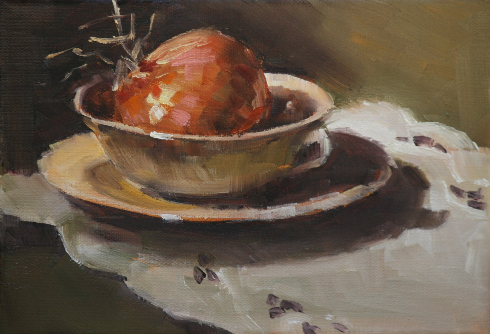 """sweet onion"" original fine art by Carol Carmichael"