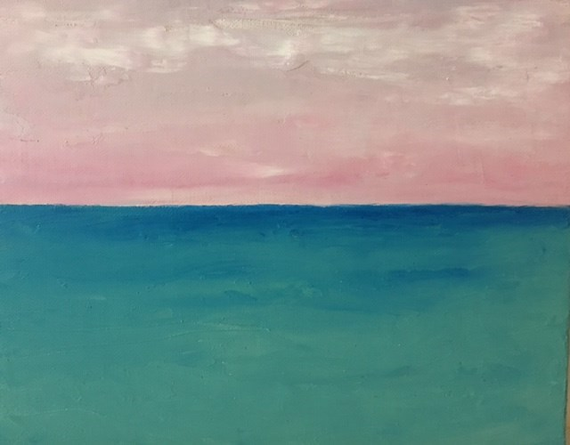 """Pink Sky"" original fine art by Karen Collins"