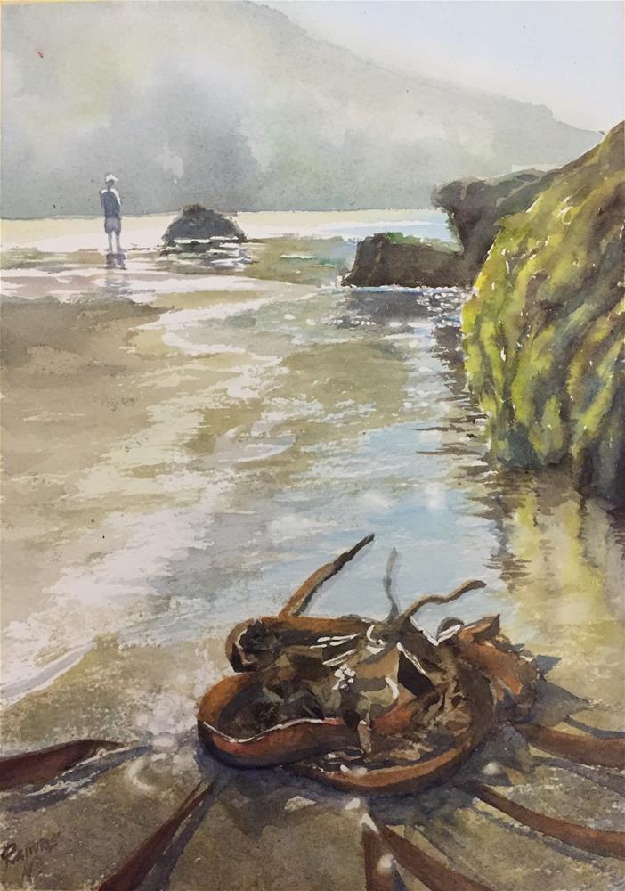 """Seaweed"" original fine art by Natasha Ramras"