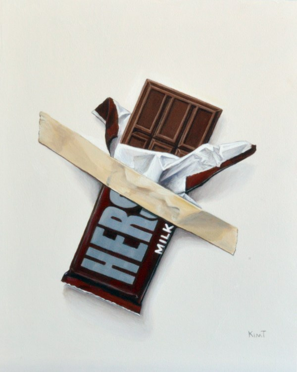 """In Case of Chocolate Emergency 5"" original fine art by Kim Testone"