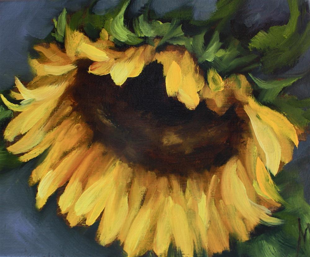 """A Moment in Time Sunflower"" original fine art by Nancy Medina"
