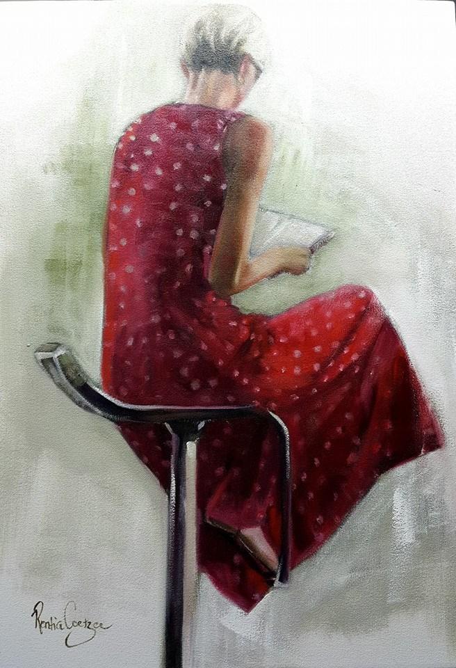 """Polkadot dress"" original fine art by Rentia Coetzee"