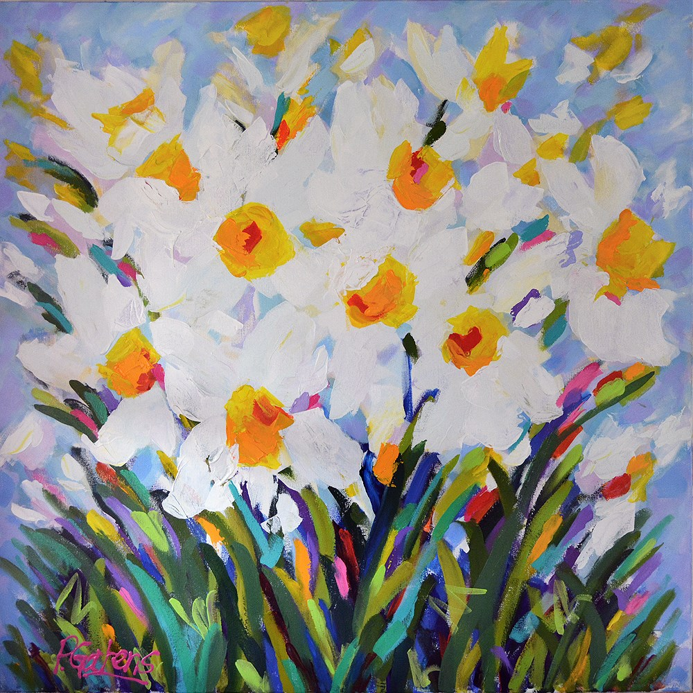 """Daffodil Meadow"" original fine art by Pamela Gatens"