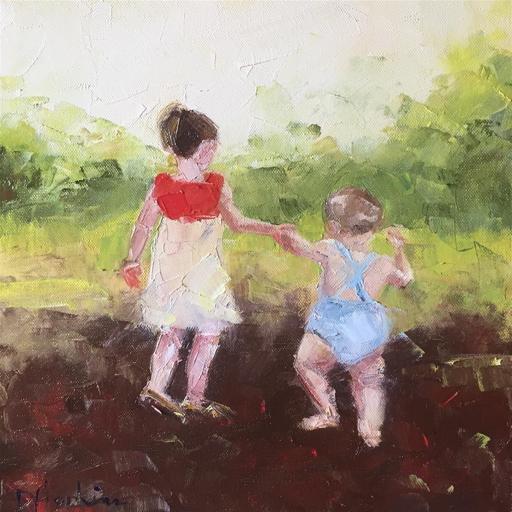 """Waddle Along"" original fine art by Denise Hopkins"