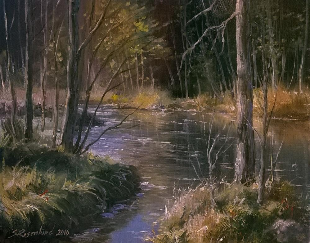 """Quiet stream"" original fine art by Stig Rosenlund"