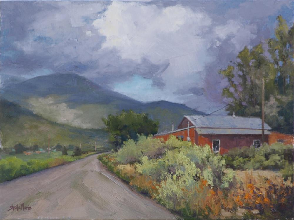 """Storm Clearing at Rim Road"" original fine art by Sheila Marie"