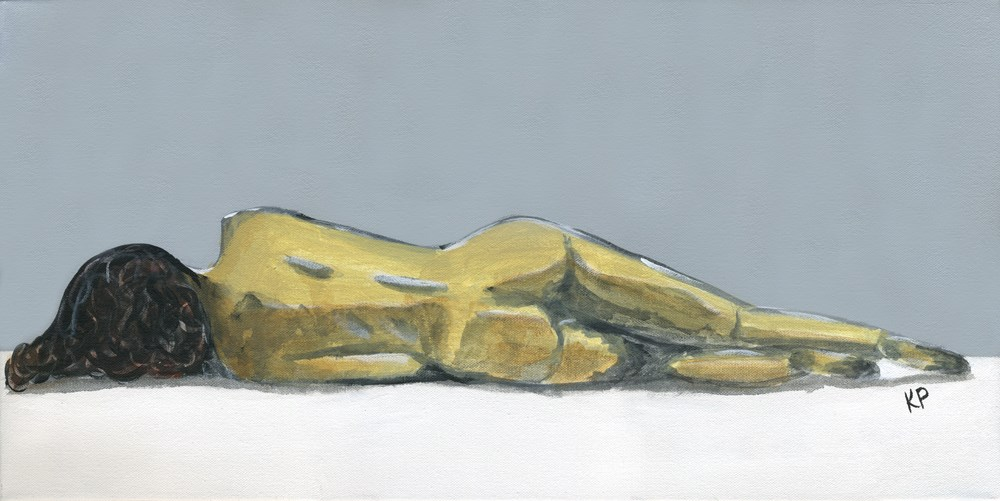 """Reclined"" original fine art by Kali Parsons"