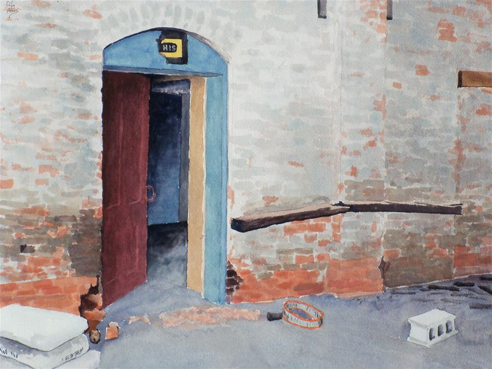 """His Door"" original fine art by Greg Arens"