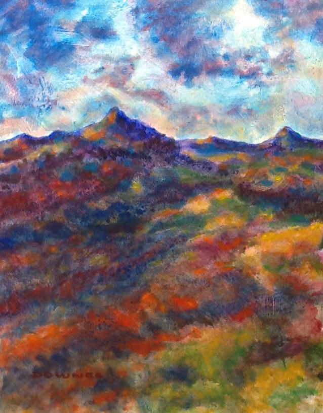 """268 MOUNT WARNING 34"" original fine art by Trevor Downes"