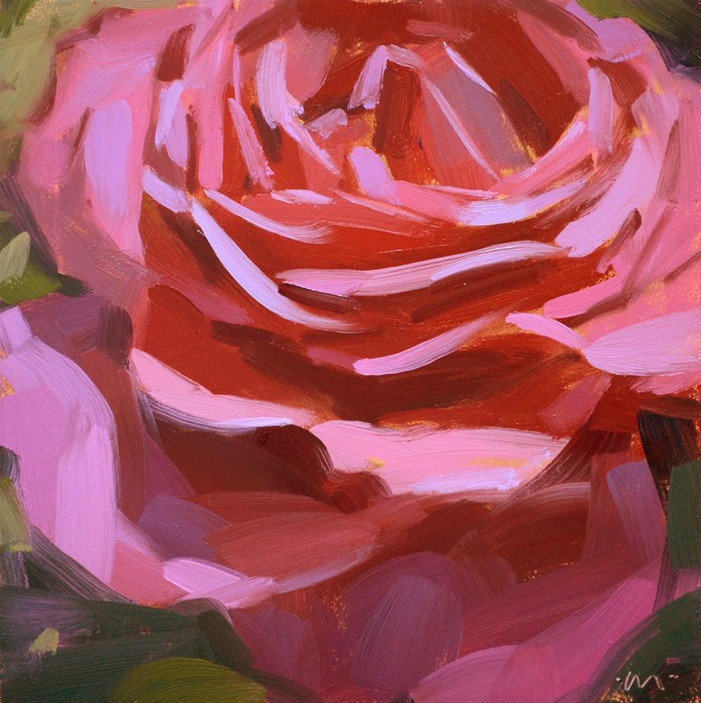 """""""Simply Rosy"""" original fine art by Carol Marine"""