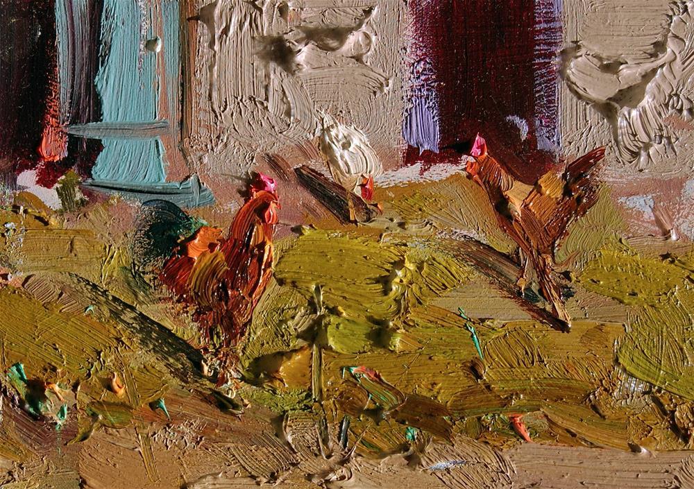 """Backyard Chickens"" original fine art by Mostafa Keyhani"