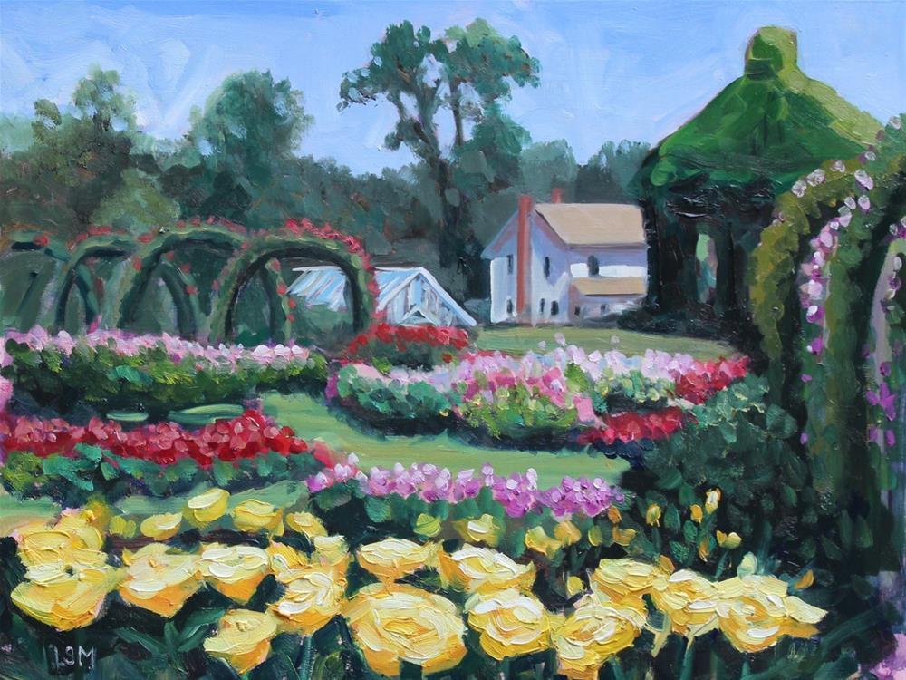 """Yellow Rose Parade - Elizabeth Park, Hartford, CT"" original fine art by Linda Marino"