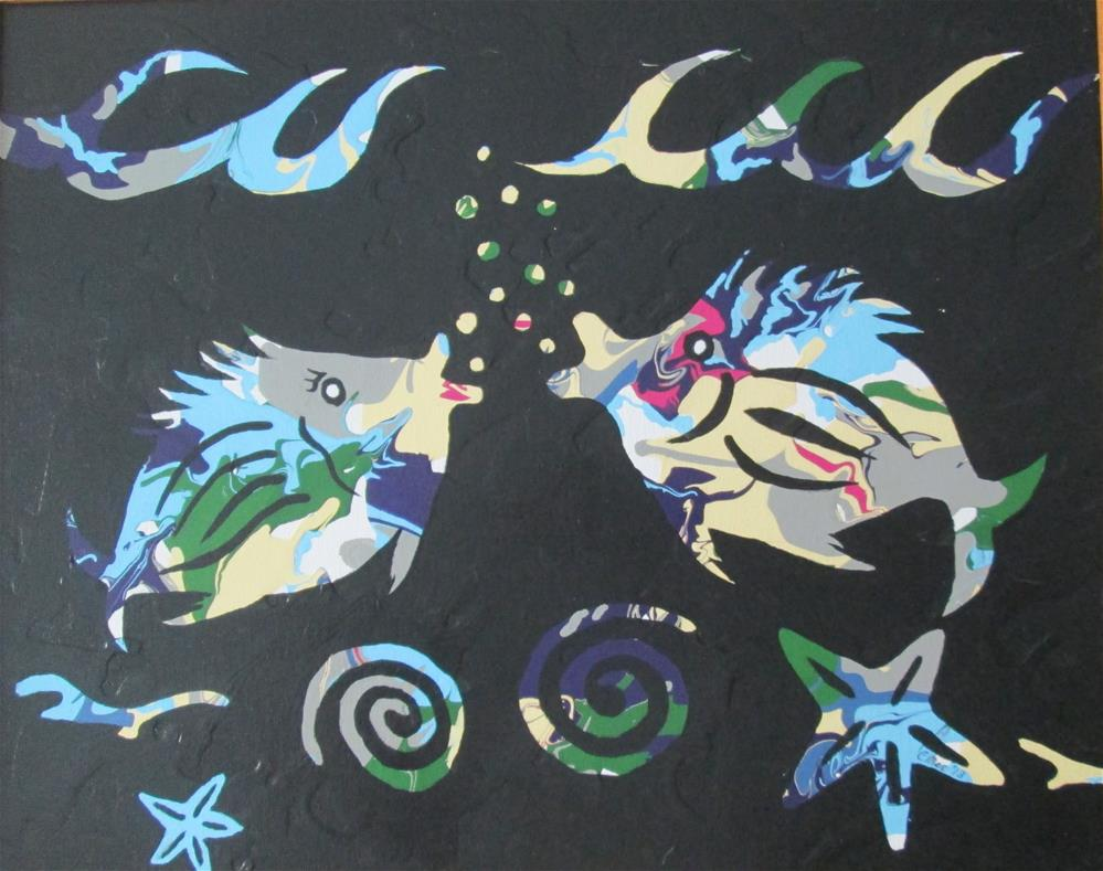 """""""Two Silly Fish"""" original fine art by Chris MacCormack"""